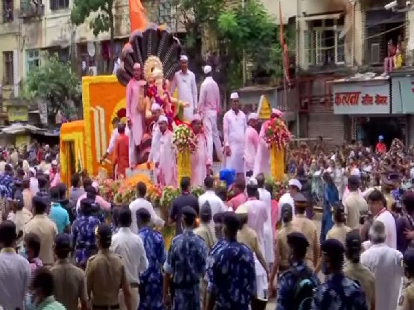 The Ganesh idol of Mumbaicha Raja Mandal in Ganesh Galli. (Photo/ANI)