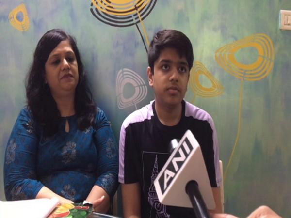 Sambhav Jain along with his mother Meenal Jain (Photo/ANI)