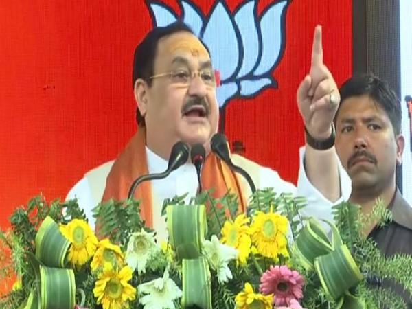 The Bharatiya Janta Party national president Jagat Prakash Nadda speaking in Varanasi on Sunday.