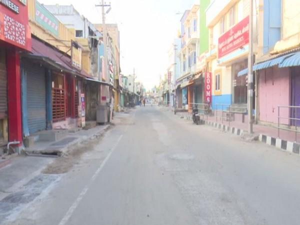 Visual of empty street in Tamil Nadu's Rameswaram (Photo/ANI)