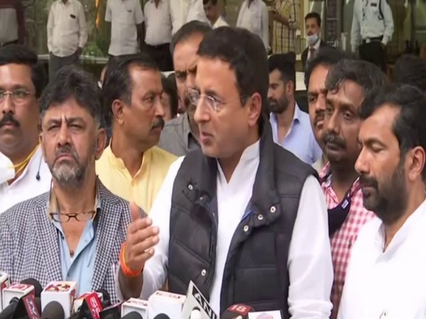Senior Congress leader Randeep Surjewala on Thursday interacting with reporters on Thursday in Bengaluru.