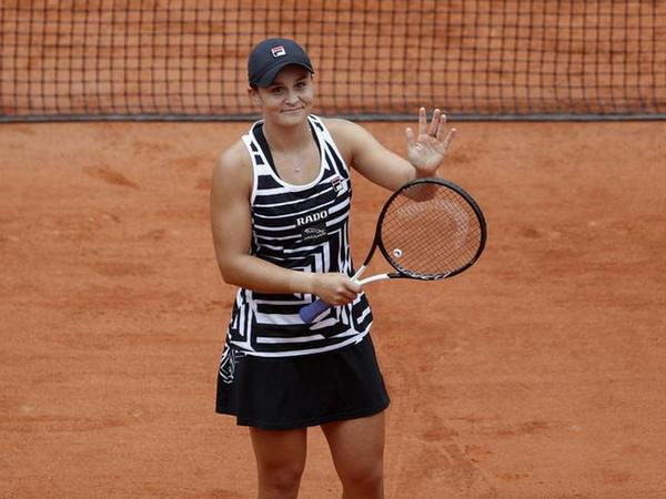 Australia's Ashleigh Barty in action