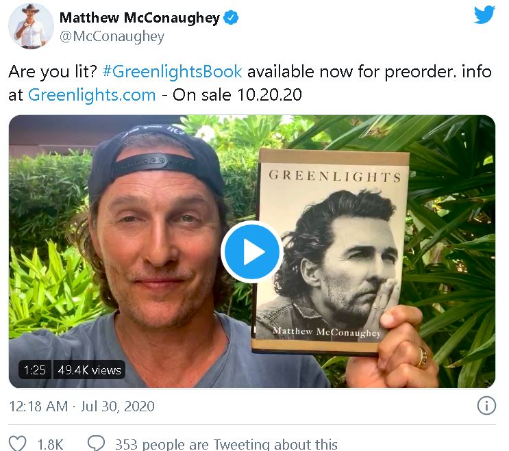 Matthew McConaughey to release first memoir Greenlights -ANI - BW  Businessworld