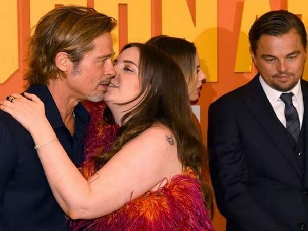Brad Pitt and Lena Dunham (Image courtesy: dixidiamond Instagram)