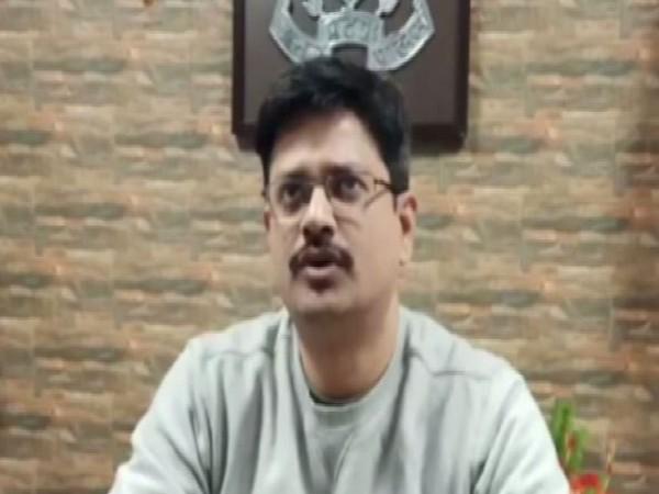 Ashutosh Kumar, IG, Basti Range, talking to ANI in Basti on Sunday. Photo/ANI