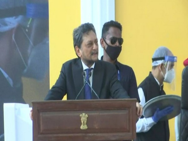 Chief Justice of India SA Bobde speaking at the inauguration ceremony of the new building of Bombay High Court at Goa