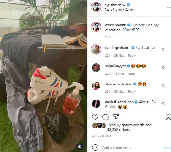 Ayushmann Khurana posted a video from the balcony of atable