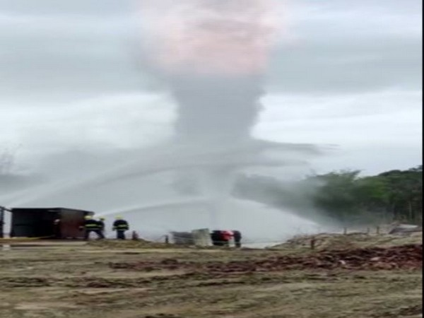 Visual from the explosion site in Baghjan, Assam.