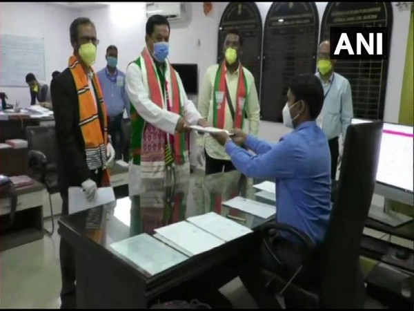 Assam Chief Minister Sarbananda Sonowal files nomination papers from Majuli Assembly constituency for the upcoming state assembly polls (Photo/ ANI)