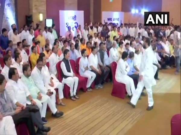 Congress-NCP-Shiv Sena MLAs at hotel Grand Hyatt in Mumbai on Monday