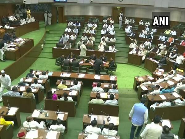 Visual from Maharashtra Assembly on Wednesday.