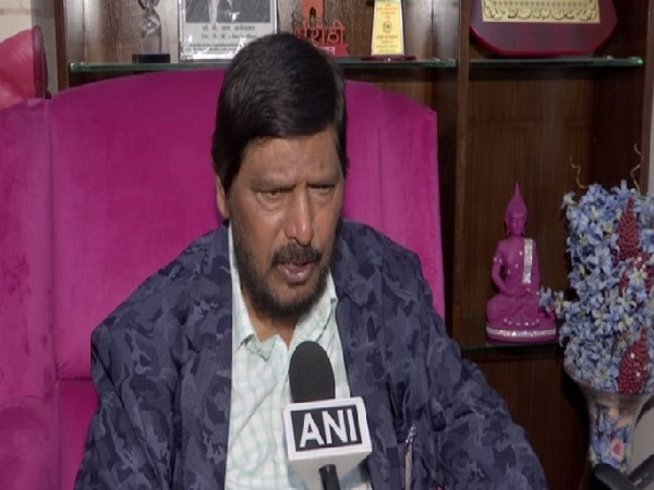 Union Minister Ramdas Athawale speaking to ANI in New Delhi.