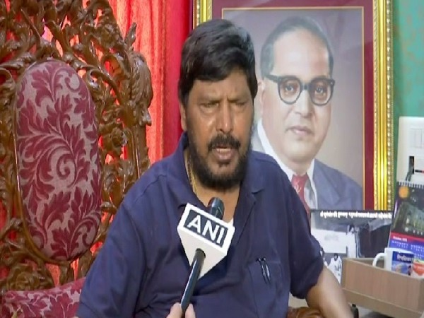 Union Minister ramdas Athawale speaking to ANI in Mumbai on Friday.