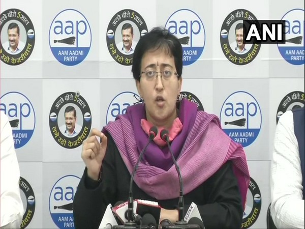 AAP leader Atishi during a press conference in New Delhi on Saturday. (Photo/ANI)