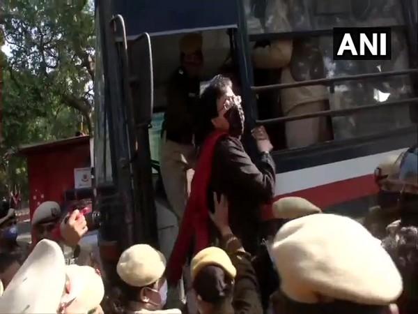 Delhi Police detained AAP leader Atishi Marlena from near residence of Delhi Lieutenant Governor Anil Baijal on Sunday.