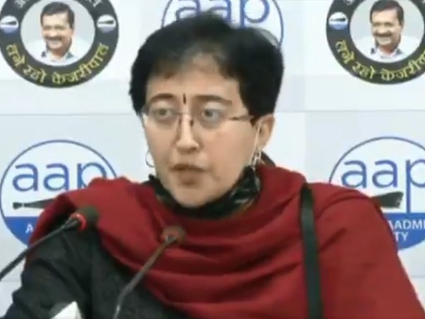 AAP leader Atishi during a press conference in New Delhi on Sunday. (Photo/ANI)