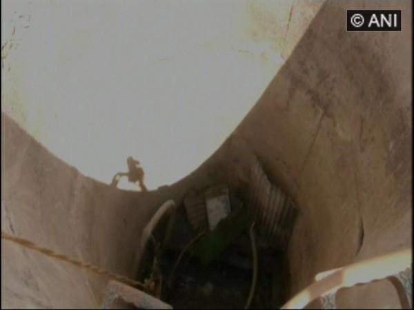 Manhole of water pipeline in Aurangabad, Maharashtra. (ANI photo)