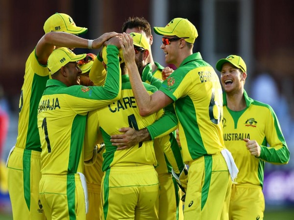 Australian players celebrating after win against New Zealand