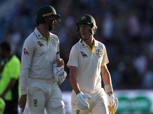 Australia were at the lead of 283 runs after the end of play on day two of the third Ashes test against England.