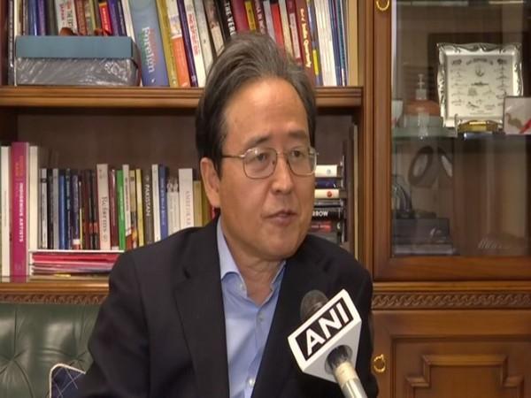 Shin Bong-Kil, the South Korean Ambassador to India, speaking to ANI on Wednesday.