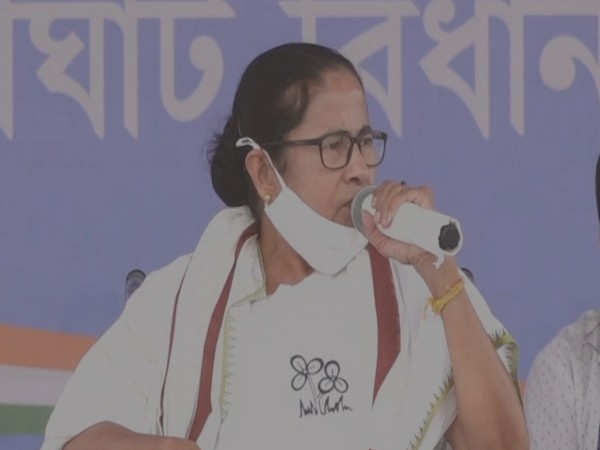 West Bengal Chief Minister Mamata Banerjee speaking in Goghat on Wednesday.