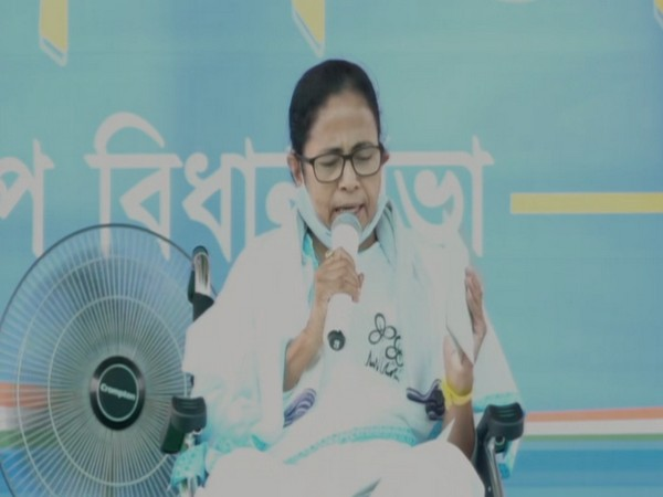 West Bengal Chief Minister Mamata Banerjee in Nadia on Friday.