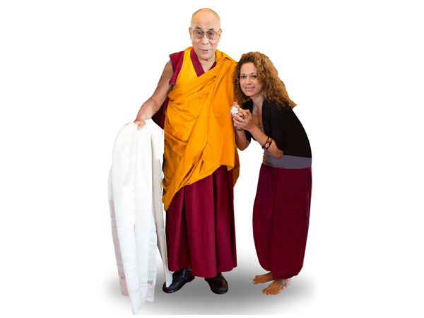 The 14th Dalai Lama with Avril Q