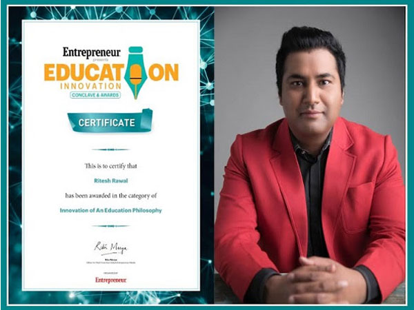 Certificate of Innovation of an Education Philosophy (Ritesh Rawal)