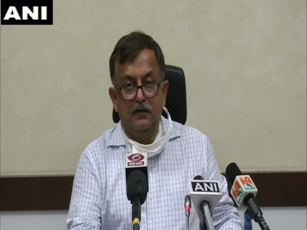 Awanish Awasthi, Uttar Pradesh Additional Chief Secretary, Home during a daily press briefing in Lucknow on Monday.