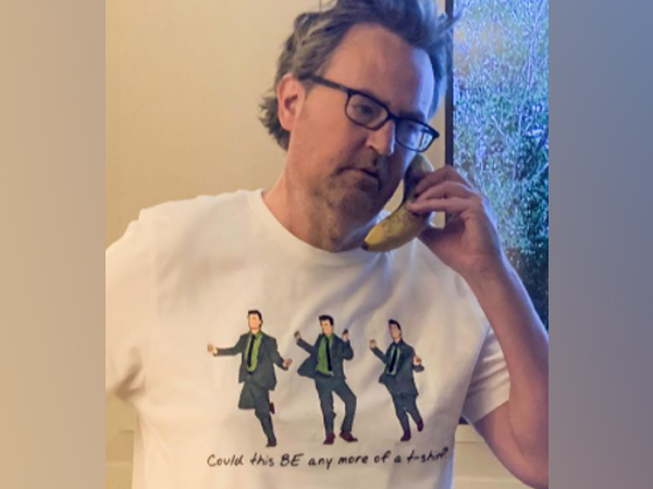 Actor Matthew Perry in the limited-edition T-shirt. (Image Source: Instagram)