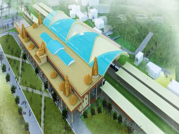An illustration of design proposed for Ayodhya Railway Station.