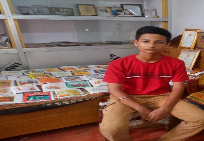 12-year-old Mrigendra Raj from Ayodhya