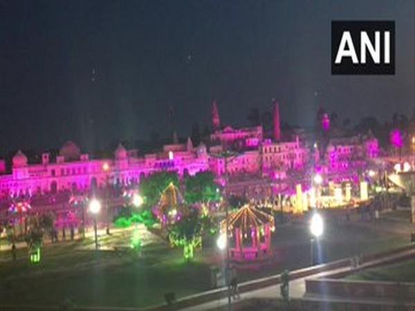 A visual of Ayodhya in Uttar Pradesh on Tuesday.