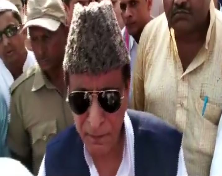 SP leader Azam Khan while speaking to media persons in Rampur, Uttar Pradesh on Wednesday. Photo/ANI