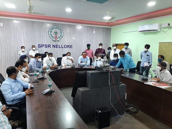 Andhra Pradesh Health Minister Alla Kali Krishna Srinivas interacted with COVID-19 patients.