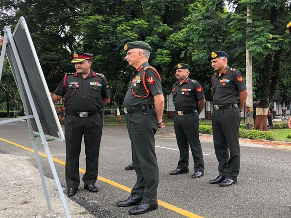 Lieutenant General M M Naravane, General Officer Commanding in Chief of Eastern Command during his two day visit was briefed on operational, training, and logistics issue by formation commanders.