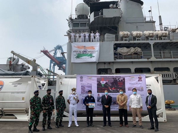 INS Airavat arrived at Tanjung Priok Port in Jakarta, Indonesia on Tuesday