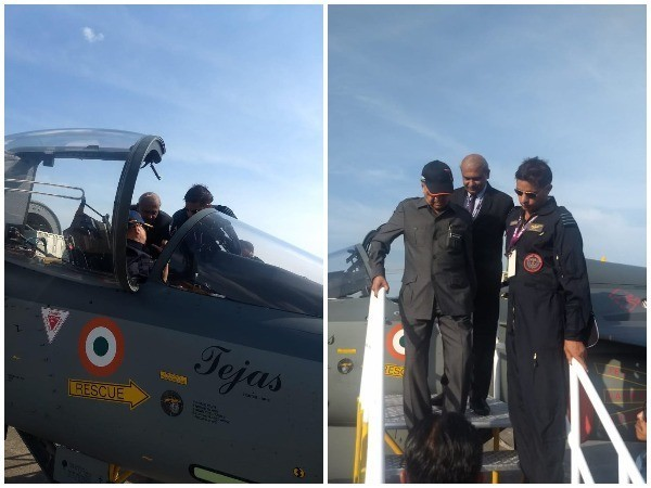 Malaysian PM Mahathir Mohamad in the Tejas aircraft at LIMA'19 in Malaysia on Wednesday