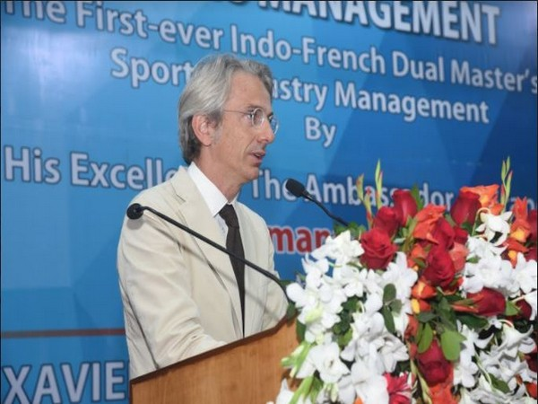 Ambassador of France to India, Emmanuel Lenain at Dual Degree Master's Programme in the sports industry management (ANI)
