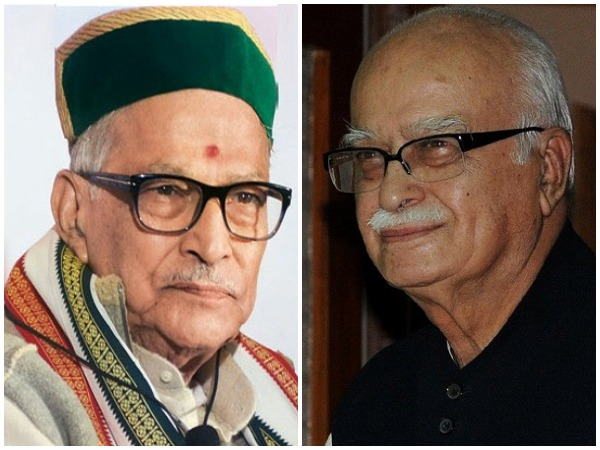 BJP leaders Murli Manohar Joshi, Lal Krishna Advani