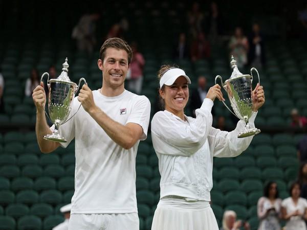 Neal Skupski and Desirae Krawczyk (Photo: Wimbledon)