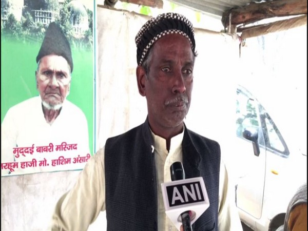 Iqbal Ansari, the main litigant in the Ayodhya land dispute case speaks to ANI on Thursday [Photo/ANI]