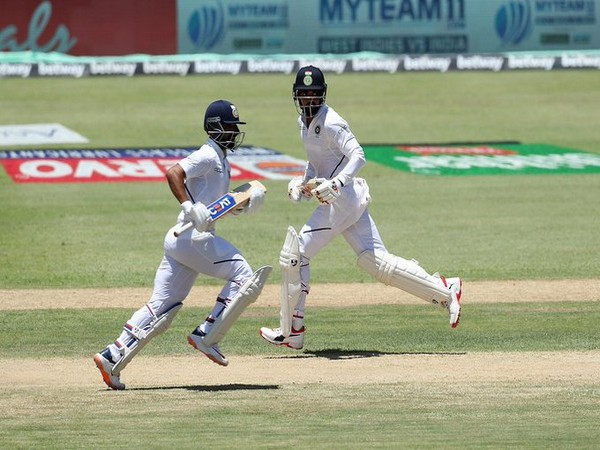 Ajinkya Rahane played a knock of 81 runs and helped India to score 203/6 against West Indies on day one of first Test. (Photo/BCCI Twitter)
