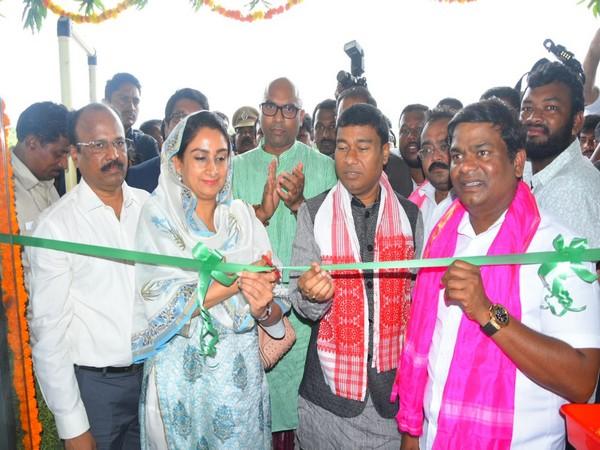 Union Minister Harsimrat Kaur Badal inaugurated the first mega food park at Nizamabad district of Telangana on Friday