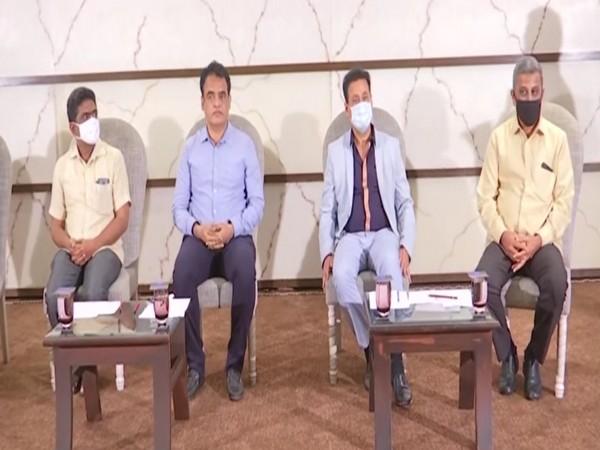 Deputy Chief Minister of Karnatak Dr Ashwathnarayan CN at the event with other dignitaries. (Photo/ANI)