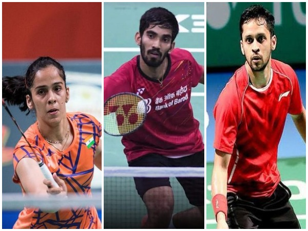 Sania Nehwal, Kidambi Srikanth, Parupalli Kashyap (From left to right)