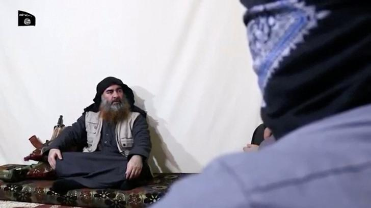 ISIL chief Abu Bakr al-Baghdadi addressing a propaganda video