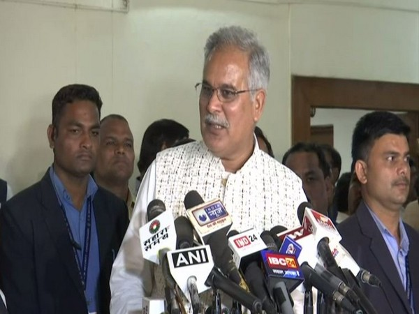 Chief Minister Bhupesh Baghel speaking to reporters in Raipur on Tuesday. Photo/ANI