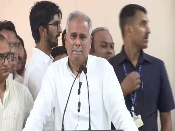 Chhattisgarh Chief Minister Bhupesh Baghel at an event in Raipur. File photo/ANI