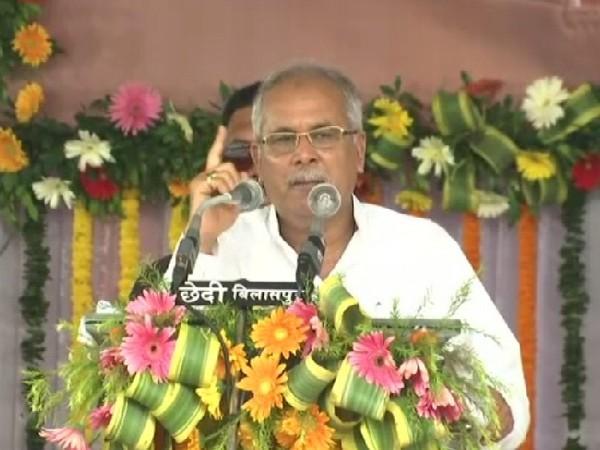 Chhattisgarh Chief Minister Bhupesh Baghel speaking in Bilaspur on Saturday.